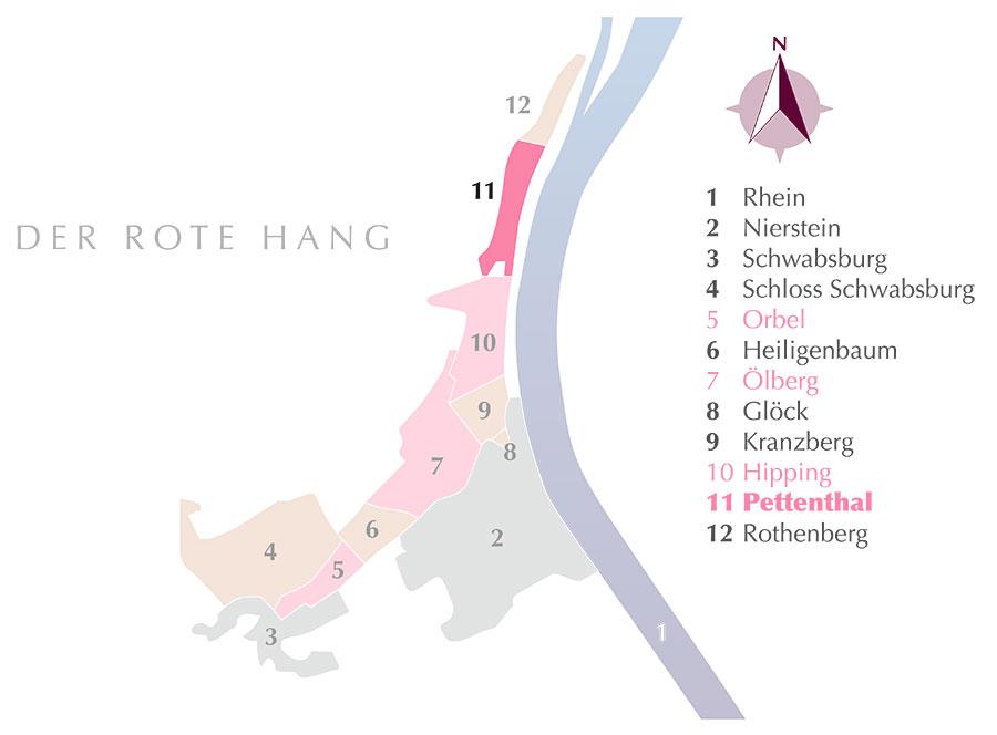 Die Weinlage Pettenthal am Roten Hang