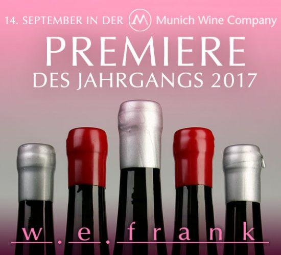 Premiere des Jahrgangs 2017 bei der Munich Wine Company