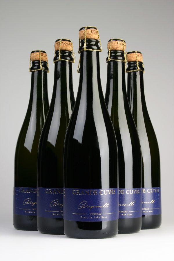 5 Flaschen Grapevault Grande Cuvée Riesling Sekt Brut